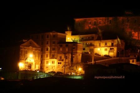 castel san lorenzo_chiesa madre notte